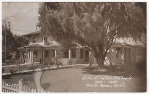 SANTA-ROSA-Luther-Burbank-Home-RPPC-RP-Real-Photo-Postcard-CALIFORNIA-Sonoma