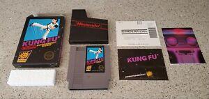 Kung-Fu-Nintendo-NES-Hang-Tab-Complete-CIB-Five-5-Screw-w-Box-Poster-Manual-Lot