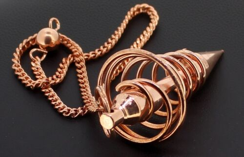 "Metall Pendel zubehör Spiral Pendel Kupfern /""Spiralförmig/"" Ø 22 mm budawi®"