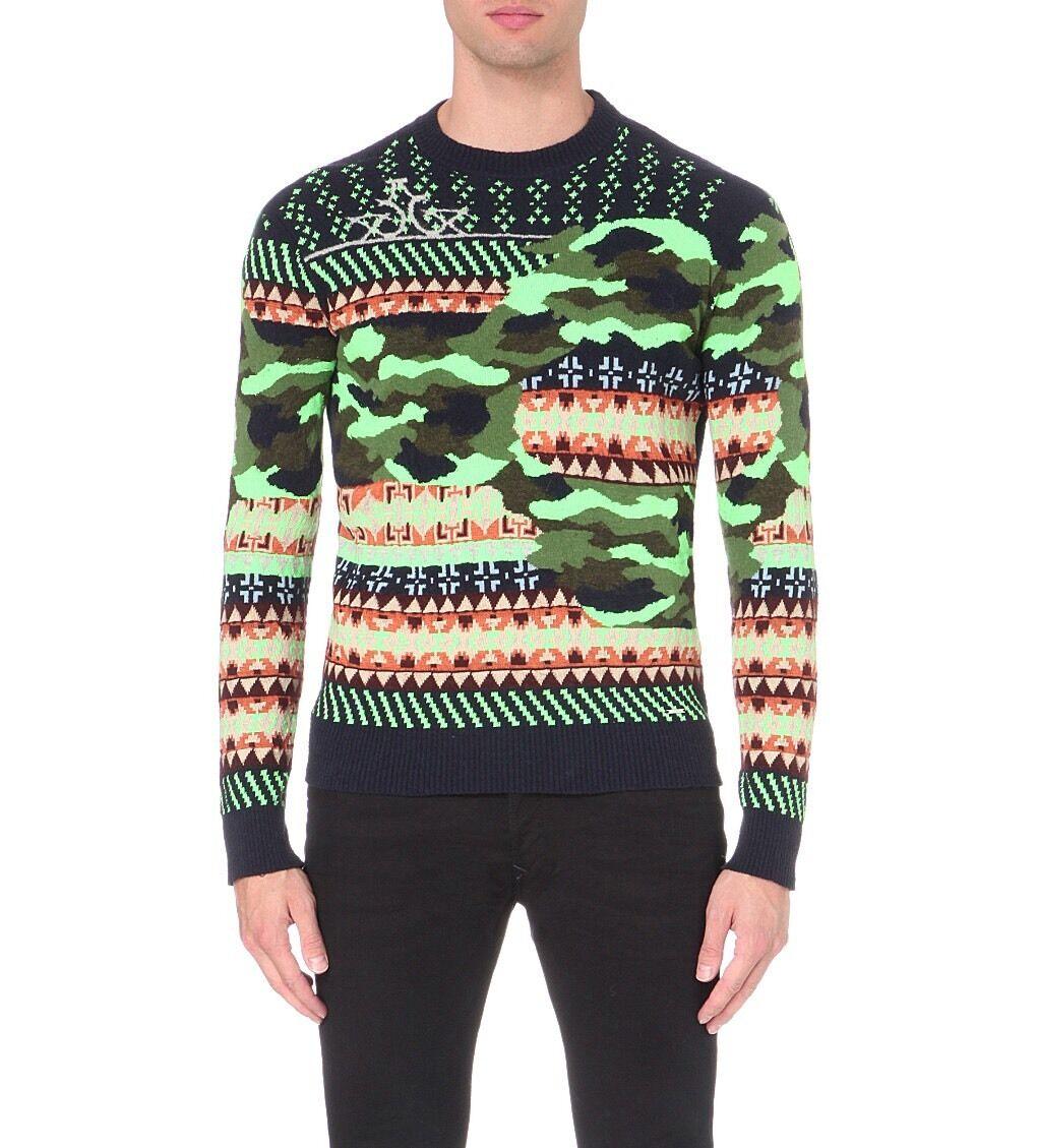 Diesel K Ruboris Patterned Knitted Jumper Größe M Rare