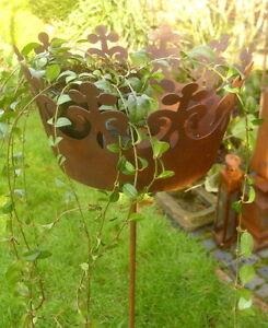 Pflanzstecker krone rankhilfe pflanzkrone gartendeko deko for Gartendeko rost krone