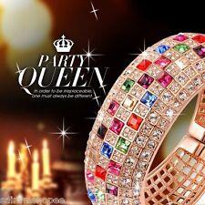 Women Swarovski elements Multicolor Diamond Pendant Necklace earrings ring set