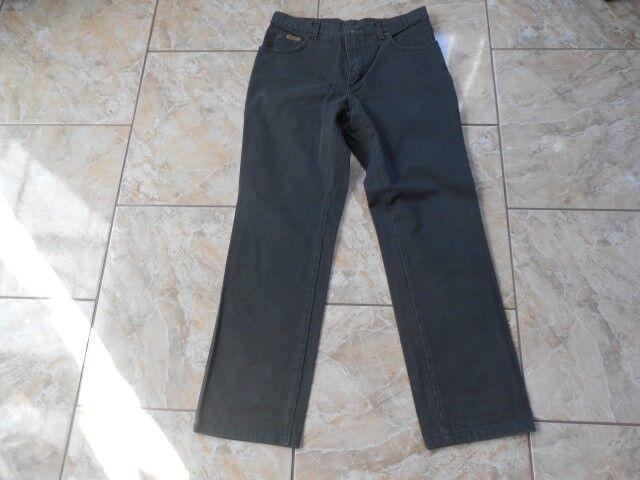 H0455 Wrangler  Jeans W32 Dunkelgrün ohne Muster  | Spielzeugwelt, fröhlicher Ozean