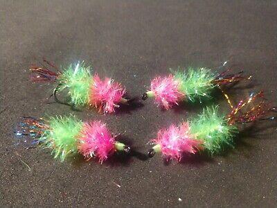 Estaz Dual Egg // Chartreuse//Pink 2020 Alaska Salmon Fly, BH Per 6 Size #4
