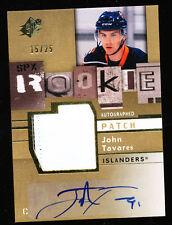 2009-10 UD SPX JOHN TAVARES PATCH AUTO 15/25 SPECTRUM ROOKIE RC