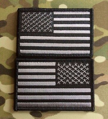 Urban Black & Gray American Flag Patch