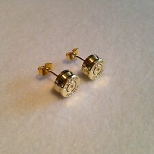 Bullet head .222 earrings ear studs - shooting hunting rifle steampunk gift!