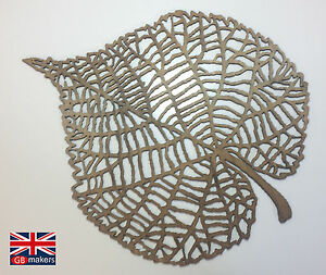 Wooden Leaf Wall Carving Hanging Decoration Art Artwork Rustic Nature Leaves