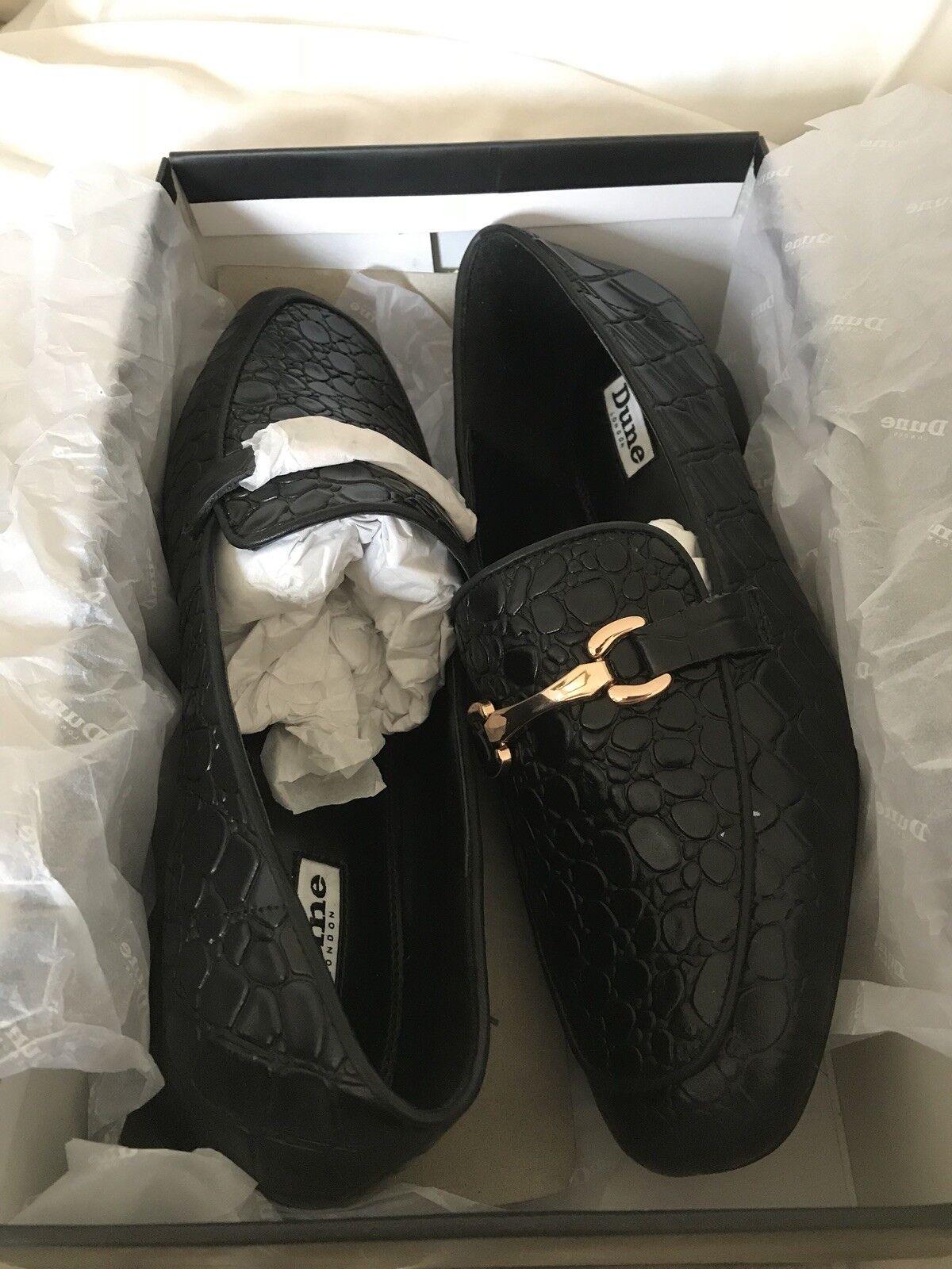 BNIB Dune LOLLA Black Loafers  SZ 7