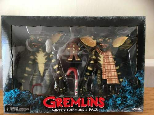 "NECA GREMLINS CHRISTMAS CAROL WINTER SCENE 2 PACK 7/"" ACTION FIGURES SET 2"