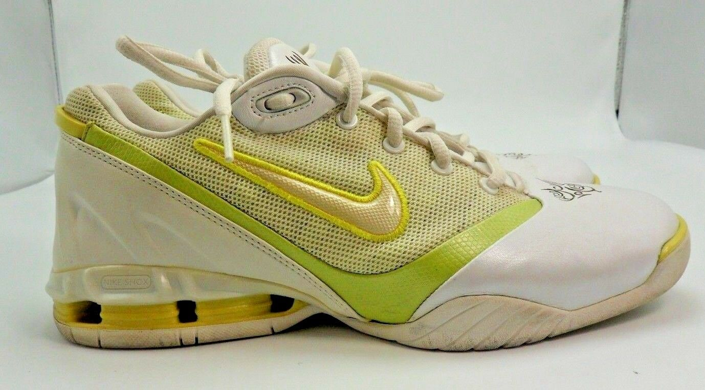 Nike Shox Glamour Women's White/Lemon yellow Athletic Shoes 310136-161 - Size 9