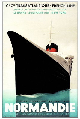 S.S Liberte French Line Poster  12 x 18