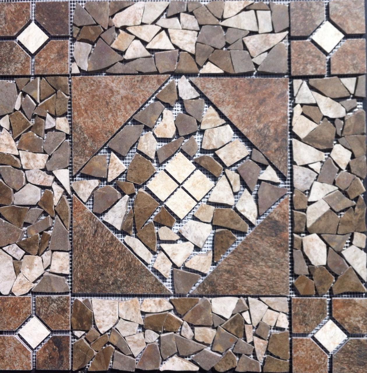 21 9 16  Tile Medallion - Daltile's Franciscan Slate tile, floor or wall