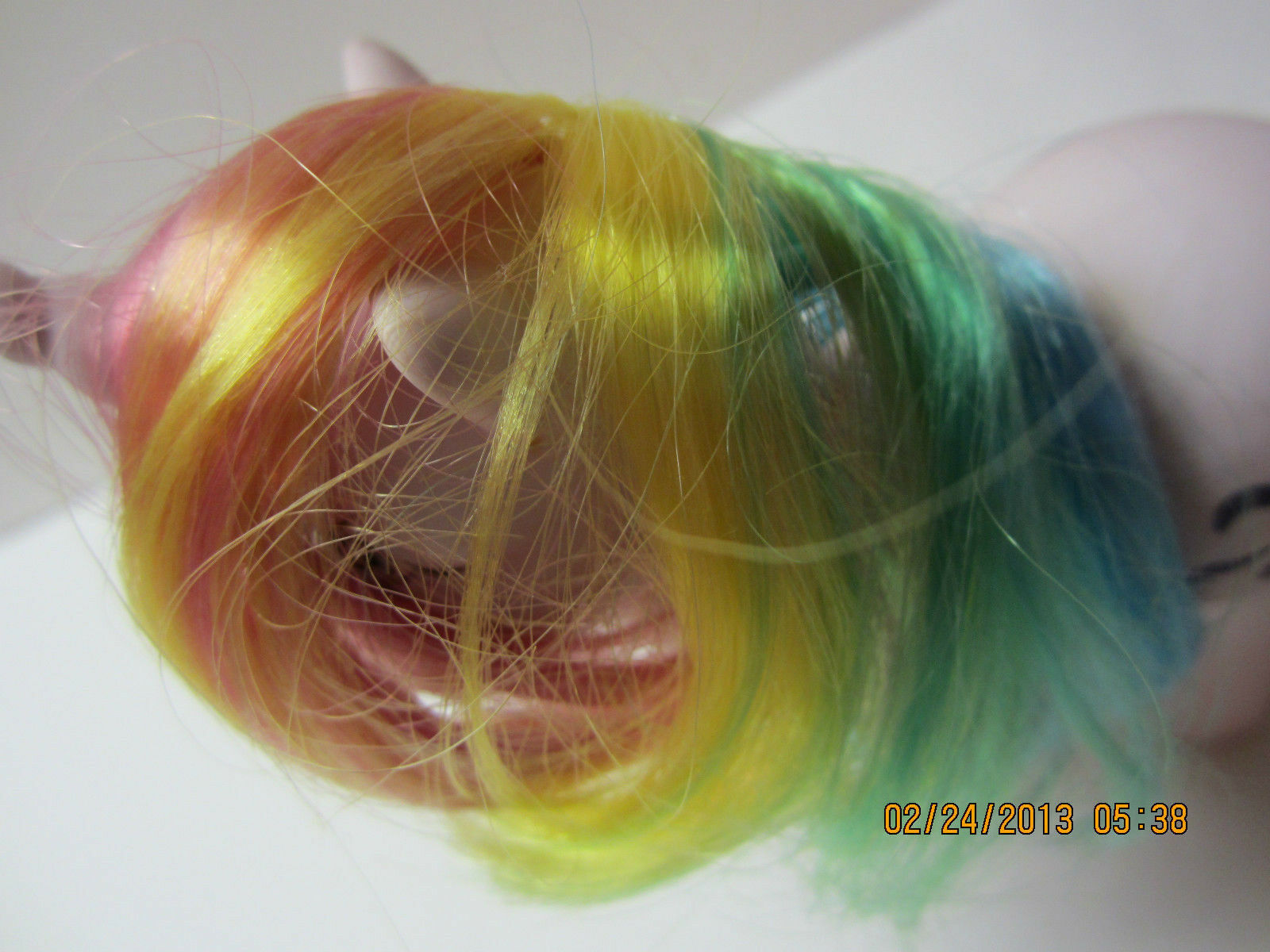 Vintage My Little Little Little Pony-Windy Unicorn-1983-With Comb-Hong Kong-Multi colord Hair 9f00f3