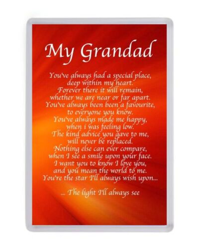 Personalised My Grandad Frigo Aimant Anniversaire Present Fathers Day Christmas