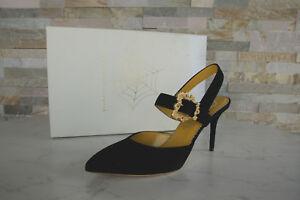 Escarpins De 38 Noire Pompes Charlotte Taille Fronde Neuf Olympia Chaussure 5 AI6Sgq