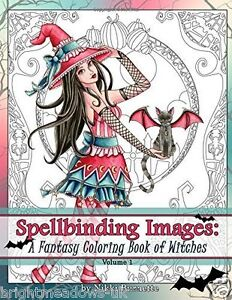 Image Is Loading Spellbinding Witches Fantasy Adult Colouring Book Creative Art
