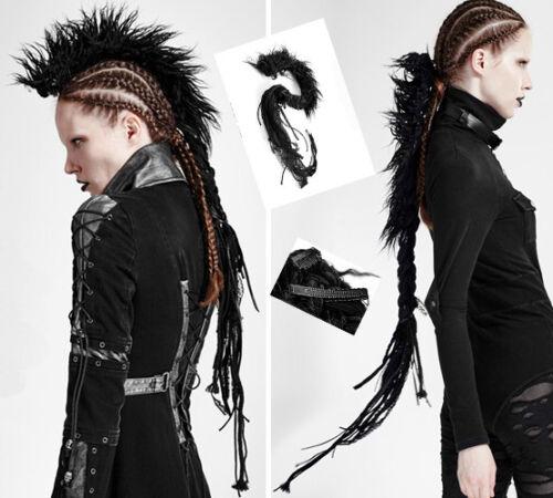 Hair Extension Haarverlängerung Zöpfe Kamm Spitze Punk Gothic Burlesk PunkRave
