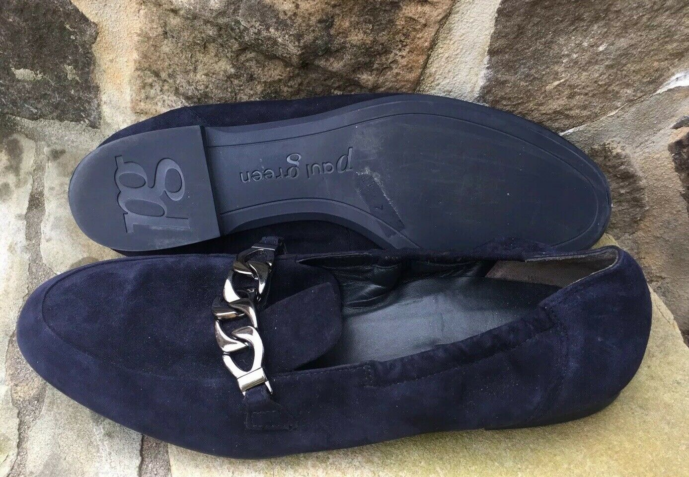 Paul verde Wouomo  Newcastle Chain Navy Leather -flats -scarpe -Dimensione -7 -9.5 -US  vendita online sconto prezzo basso
