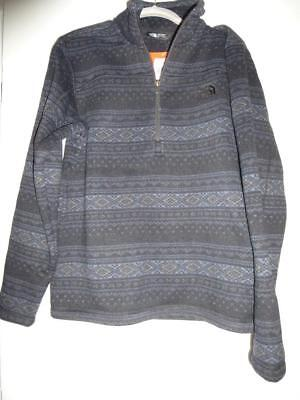 THE NORTH FACE Men/'s Size XL Leo Sweater 1//4 Zip Fleece Top Pullover Grey