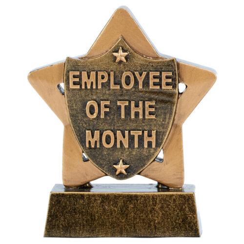 EMPLOYÉ DU MOIS Trophée travail Star Award Gravure Gratuite 8 cm A1903 BX 33