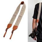 Universal Camera Shoulder Neck Strap Leather Belt For SLR DSLR Digital Canon