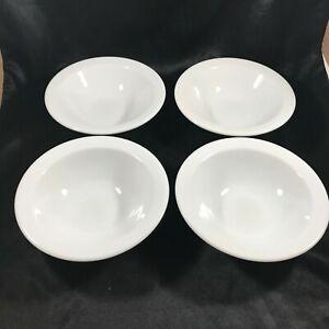 Set-of-4-Vintage-REGO-Restaurant-Ware-Fine-Porcelain-White-Bowls