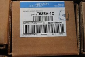 lot of 5 Johnson Controls Thermostat T58EA-1C Low V Hardwired seqncd heat-cool