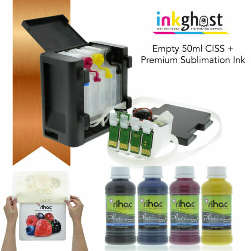 Empty CISS Inkghost compatible with Epson Workforce WF7710 7720 7725 sublimation