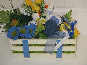 Das Bild Wird Geladen Angebot Dekoration Holzkiste Holz Kiste Ostern Deko  Fruehlingsdeko
