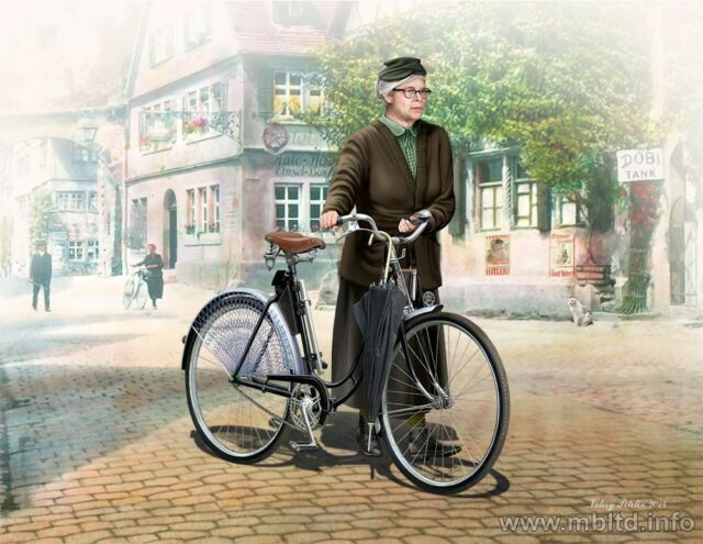 FRAU MULLER - WOMAN AND WOMENS BICYCLE, EUROPE WWII 1/35 MASTER BOX 35166