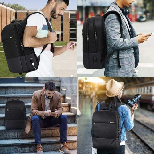 ♥ Backpack Rucksack Business Schule Uni bis 15,6 Zoll Laptop inkl USB-Anschluss