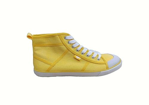 Yellow Rocket Dog Amati Sidewalk Lace-up Hi Top Sneakers Trainers Canvas Plimsol