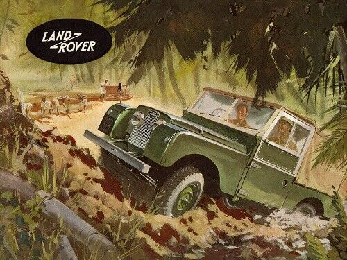 LAND ROVER 1957-1958 SERIES-I /'88/' RETRO POSTER PRINT CLASSIC ADVERT A3 !