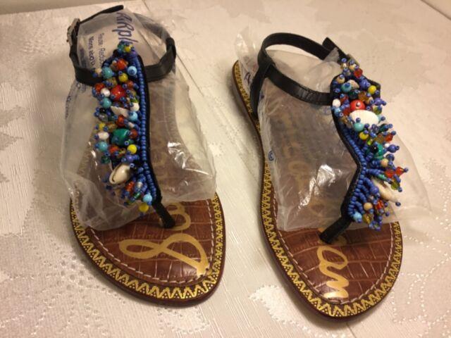 459ec04cf Sam Edelman Womens Gabrielle Leather Split Toe Casual Ankle Strap Sandals  8.5 w3