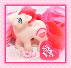 ❤️My Little Pony MLP G1 Vtg Baby Red & White Valentine Twin Mail Order Heart❤️