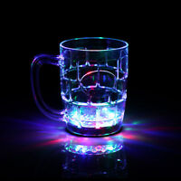 Colorful LED Light Flashing Beer Mug Glass Drink Cup For Bar Party Wedding Club