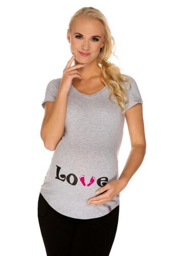 Nr.0TM-T7-XL Gr.XL Schwangerschafts-T-Shirt Umstandsmode UMTSANDS-TSHIRT NEU
