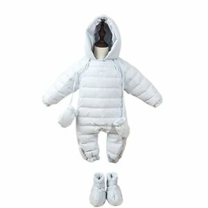 40928ff9e7ea Newborn Baby Duck Down Romper Kids Winter Coat Jacket Snowsuit ...