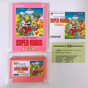 SUPER-MARIO-USA-Famicom-Nintendo-with-box-and-manual-Japan-game-FC-NES-VERY-GOOD