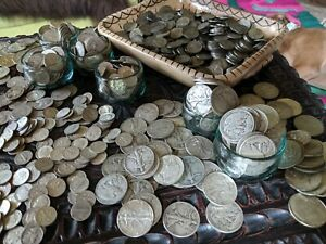 SILVER-SALE-1-One-Troy-Pound-LB-U-S-Mixed-Silver-Coins-NO-JUNK-Huge-Lot