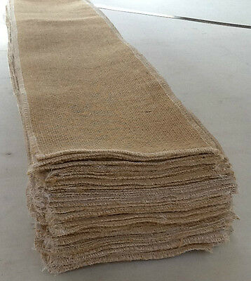 66 QUALITY HESSIAN BURLAP RUSTIC VINTAGE CHAIR SASHES TO BUY
