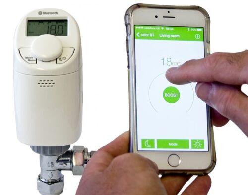 Bluetooth PROGRAMMABLE THERMOSTATIQUE RADIATEUR VALVE TRV Tête De Thermostat EQ3B 15 mm