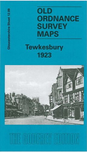 OLD ORDNANCE SURVEY MAP TEWKESBURY 1923 OLDBURY ROAD BARTON ST SWILGATE BRIDGE