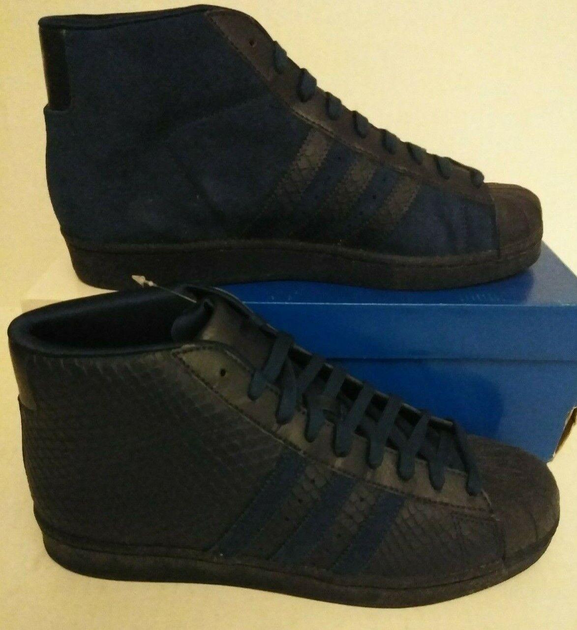 Adidas Originals pro model high top Hi NAVY BLUE SUEDE SHOES