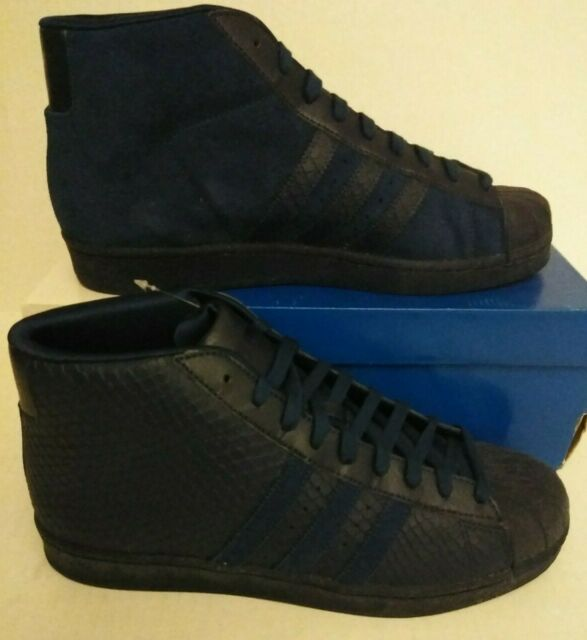 Adidas Originals pro model high top Hi NAVY BLUE SUEDE SHOES