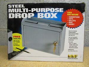 Steelmaster Multi Purpose Drop Box 9 3 4 W X 7 H X 3 D Gray New 22258dbgy Ebay