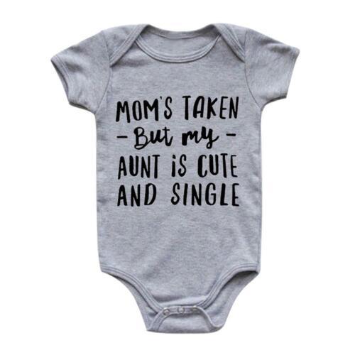 Newborn Infant Baby Boy Girl Letter Romper Bodysuit Jumpsuit Clothes Outfit US