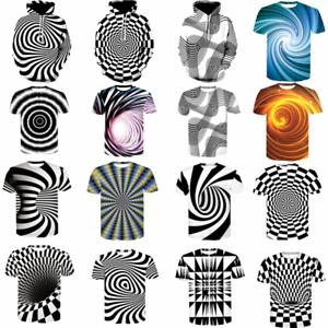 3D-Optical-illusion-T-Shirt-Hypnosis-Swirl-Men-039-s-Funny-Summer-Tee-Tops-Hoodies