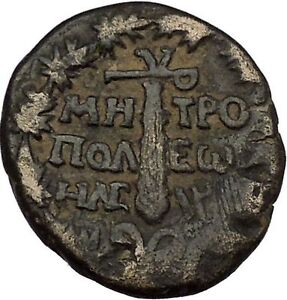 TYRE-PHOENICIA-112AD-Hercules-Melkart-Club-Authentic-Ancient-Greek-Coin-i53743